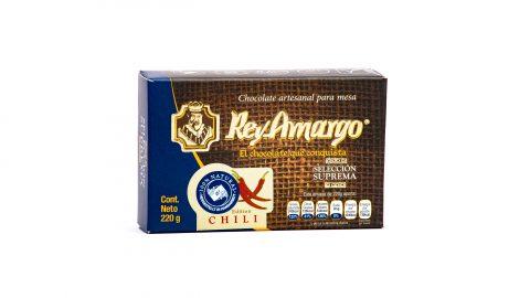 Trinkschokolade Rey Amargo 220gr, 34% Kakao Geschmack Chili