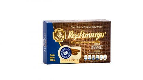 Trinkschokolade Rey Amargo 220gr, 34% Kakao Geschmack Extra Zimt
