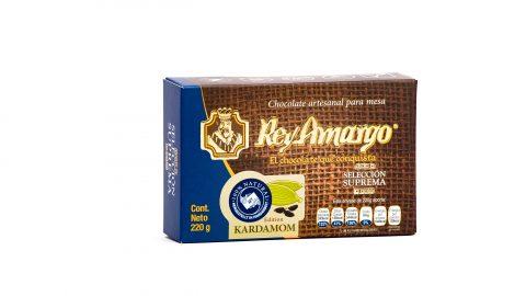 Trinkschokolade Rey Amargo 220gr, 34% Kakao Geschmack Kardamom