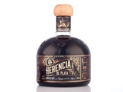 mexikanischer Tequila Likör mit Kaffee von Herencia de Plata große Flasche