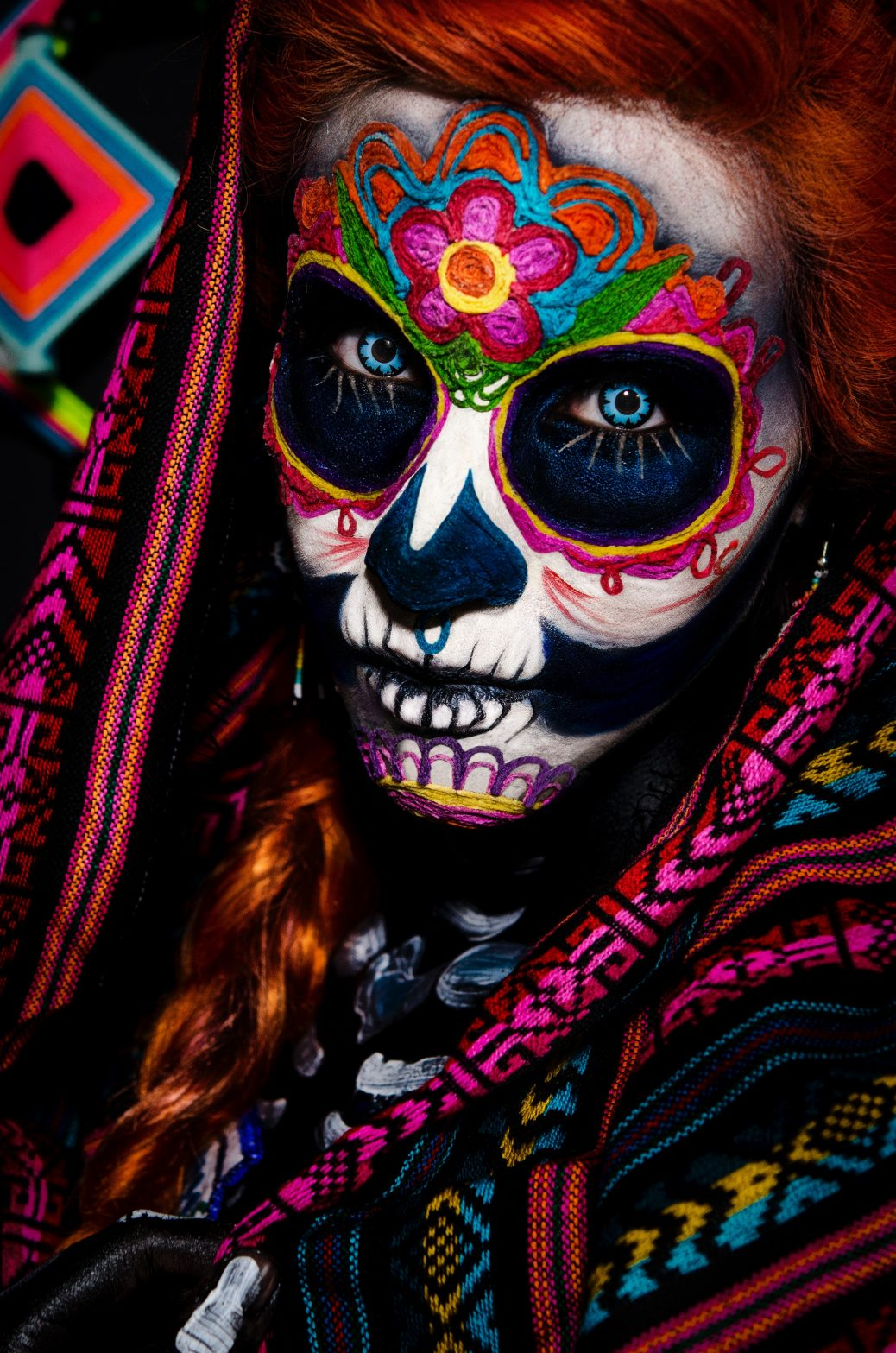 mexikanischer Tag der Toten Gesichtsbemalung