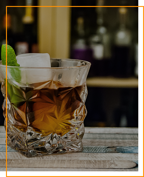 Tequila Reposado im Glas