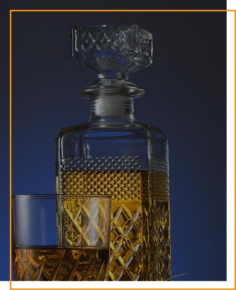 Tequila in edler Flasche