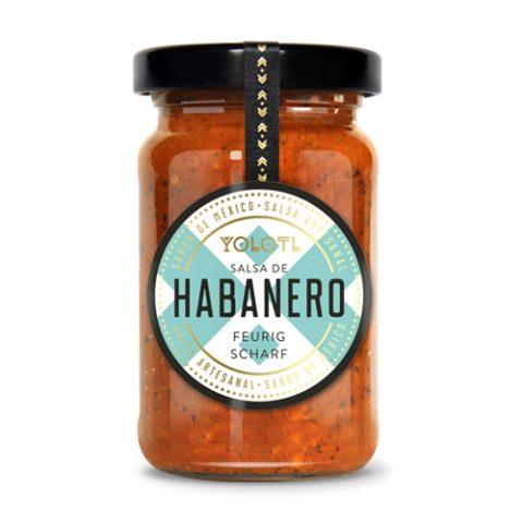 Habanero Chili Sauce, YOLOTL, 105ml feurig scharfe Salsa de Habanero