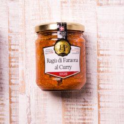 Italienische Nudelsauce mit Perlhuhn und Curry