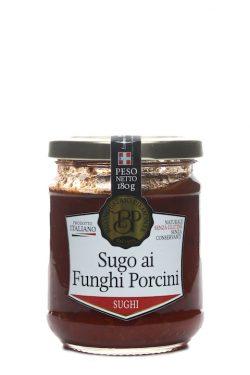 Italienische Nudelsauce aus Tomaten und Steinpilzen