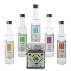 La Medida Mezcal Tasting Set (5 x 0.05l) + Sal de Gusano Salz