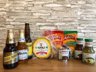 mexikanisches taco set mit bier