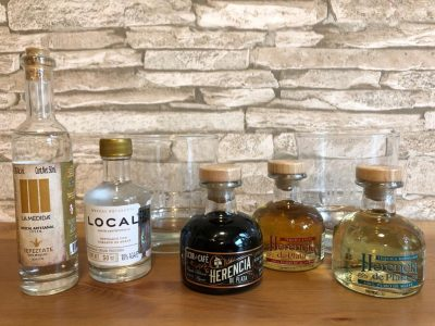 tequila und mezcal tasting set