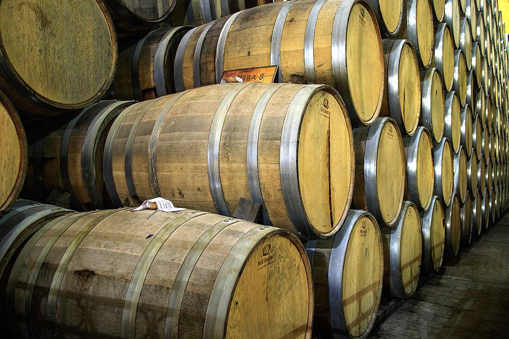 Tequila Lagerung in Holzfässern